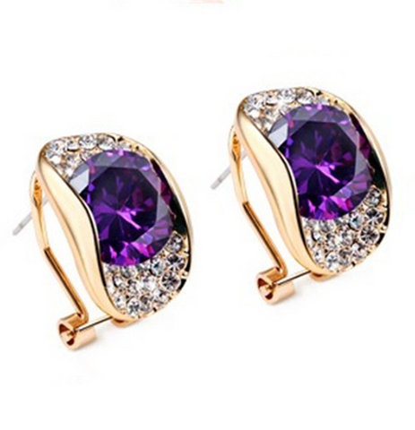 Austrian Crystal Rhinestone Earrings