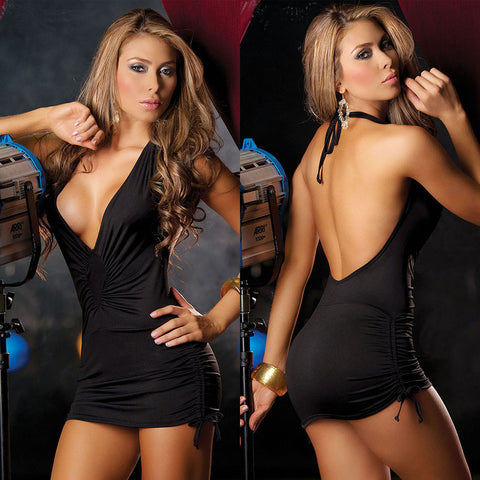 Cloth Mini Dress Pole Dancing Temptation
