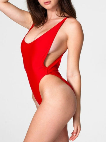 Curvy Girl Scoop Back Swimsuit