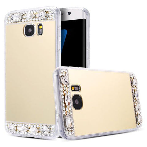 Diamond Luxury Mirror Case For Samsung Phone
