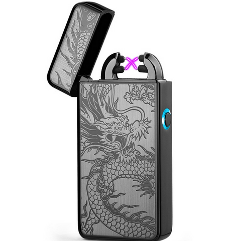 Dragon USB Charging Double Arc Electronic Lighter