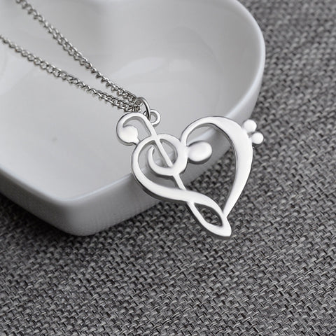 Heart Shaped Musician Necklace