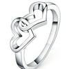 Heart To Heart Platinum Ring