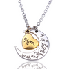 I Love You To The Moon And Back Silver Necklace Vintage Family Necklaces Pendants