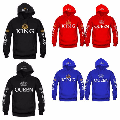 King Queen Printed Hoodies