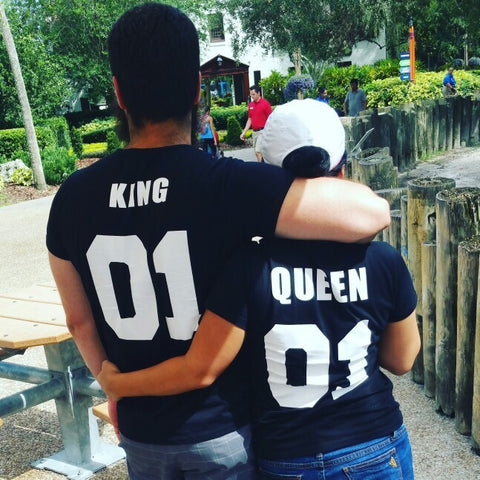 King and Queen Couples T Shirt