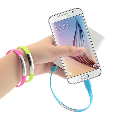 Micro USB Cable Silicone Wrist Bracelet Data Sync for Android Smart Phones