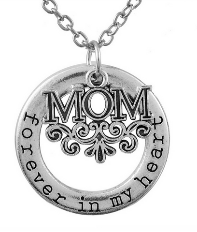 Mom Forever In My Heart Pendant Necklace