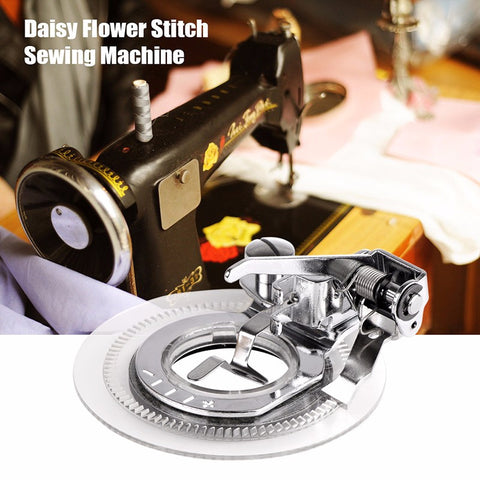 Round Presser Foot Flower Stitch For All Low Shank Singer Janome Brother Sewing Machine
