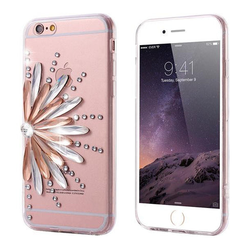 Sunflower Diamond Clear Case for iPhone