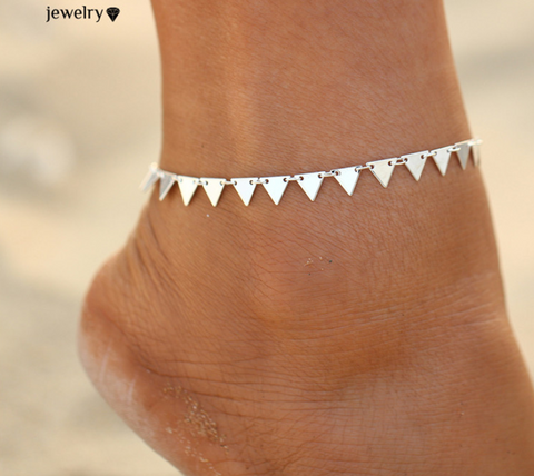 Triangle Geometry Anklet Chain
