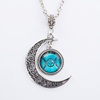 Triple Moon Goddess Wiccan Necklace