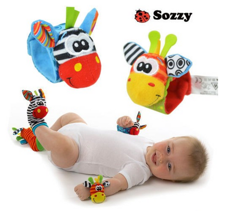 Wrist Rattle and Foot Socks Baby Toddler Educational Toy