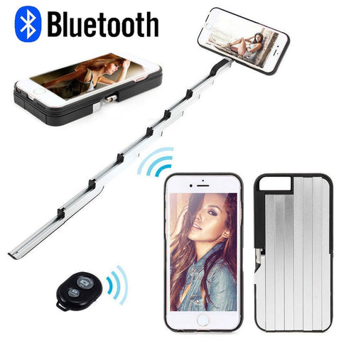 iPhone 6 6S 6Plus 7 7Plus Bluetooth Foldable Selfie Stick with Remote