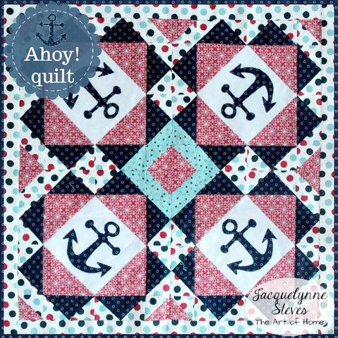 Ahoy! Mini Quilt Pattern- Digital