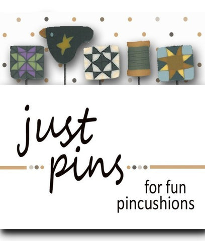Decorative Pins - Quilt Blocks & Bird