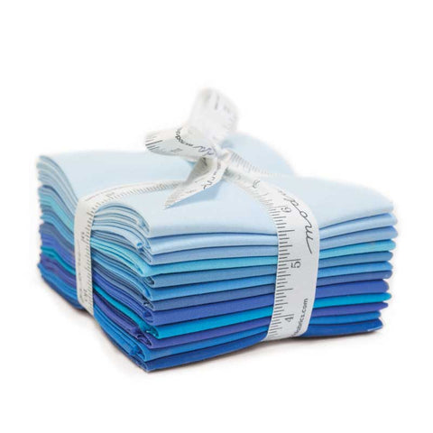Bella Solids - Blue,  Fat Quarter Bundle