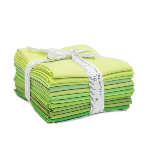 Bella Solids - Green, Fat Quarter Bundle