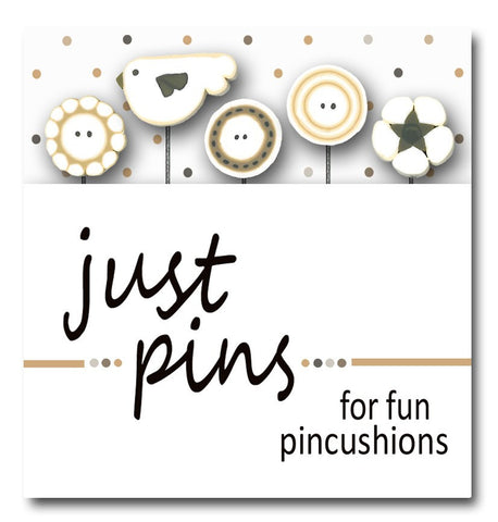 Decorative Pins - Bird & Buttons
