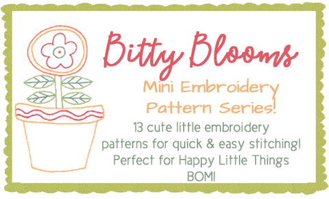 Bitty Blooms Embroidery Pattern Collection- DIGITAL