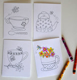 Note Cards to Color - Cozy Afternoon