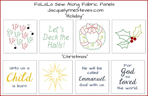 FaLaLa Sew Along Fabric Panel