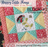 Happy Little Things Block of the Month Quilt Pattern - Digital