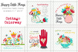 "Happy Little Things Quilt 8"" Preprinted Blocks"