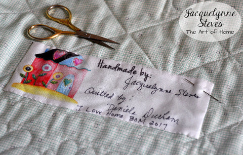 I Love Home Quilt Labels- JacquelynneSteves.com