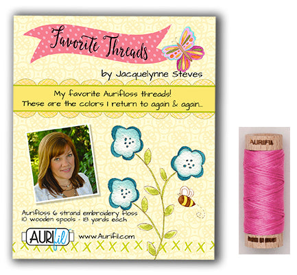 Jacquelynne Steves for Aurifil Embroidery Floss