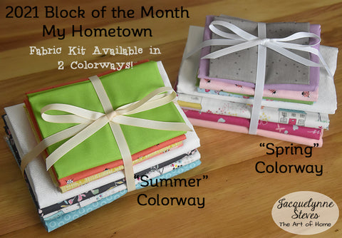 My Hometown Block of the Month Fabric Kit