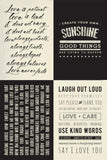 Encouraging Sayings Fabric Panel Collection