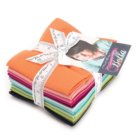 Bella Solids Fat Quarter Bundle by V & Co.