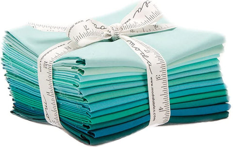 Bella Solids - Teal, Fat Quarter Bundle