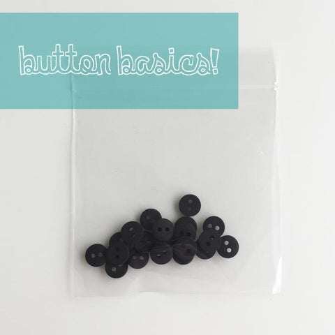 Black Matte Finish Buttons