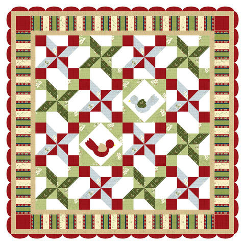 Winter Nest Quilt and Table Runner Pattern - Digital