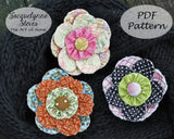 Scrappy Quilt-y Flower Pin Pattern - Digital
