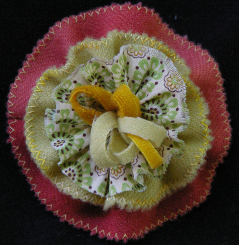 Ruffled Flower Pin Pattern