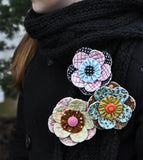 Scrappy Quilt-y Flower Pin Pattern
