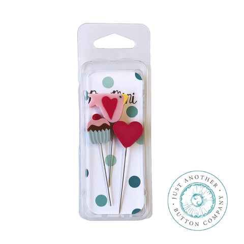 Decorative Pins - Valentine Sweetheart Mini Pack