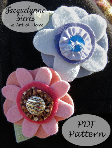 Wool Flower Pin Pattern - Digital