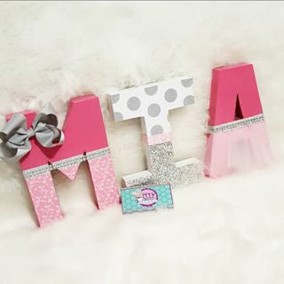 Tutu Add On for Birthday / Nursery Letters or Numbers - Itty Bits Designs
