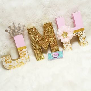 Glitter Add On for Letter & Number Party Decorations - Itty Bits Designs