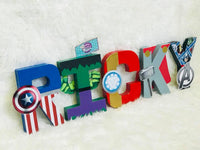 Superhero Themed Birthday Letters - 8 Inch - Itty Bits Designs