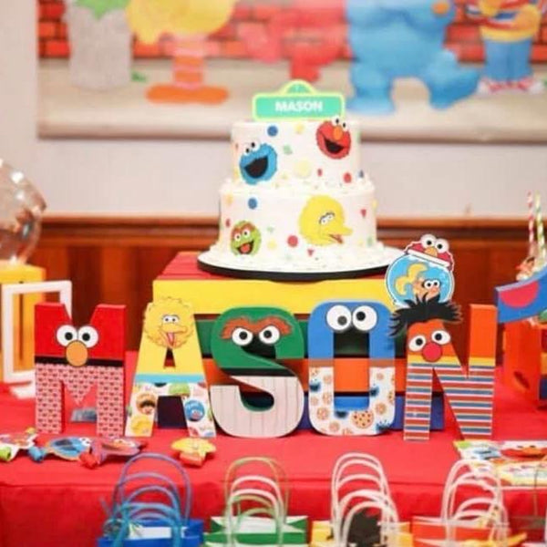 Sesame Friends Themed Birthday Letters - 8 Inch - Itty Bits Designs