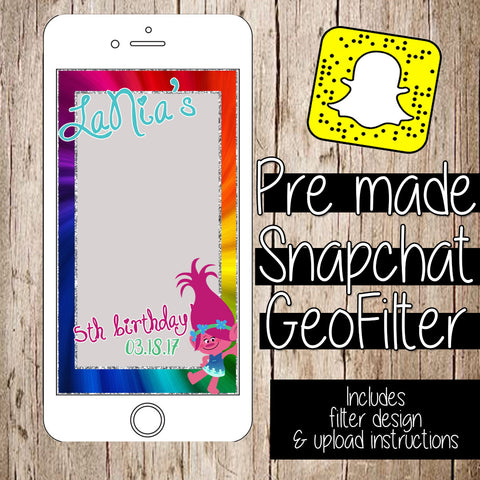 PREMADE SnapChat GeoFilters for Parties & Events - Itty Bits Designs