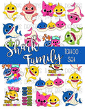 Shark Baby Tattoos - Shark Baby Cartoon Party Favors - Itty Bits Designs