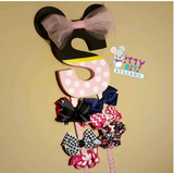 Custom Initial Hairbow Holder - Itty Bits Designs
