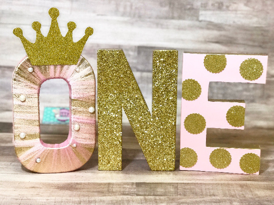 Royal Princess First Birthday Letters - Itty Bits Designs