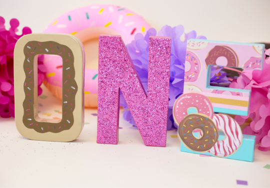 Donut Grow Up First Birthday Letters - Itty Bits Designs